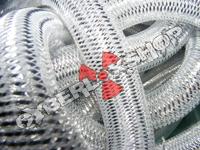 Tubular Crin - Large - Silver Metallic (5 yds)