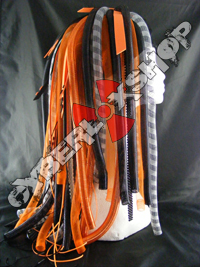 Tech-X Orange Cyberlox Wig