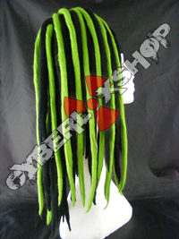 Rosa (Black / Green) Wool Dread Falls