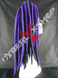 Rosa (Black / Violet) Wool Dread Falls