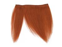 "Clip-In Fringe - 8"" Human Hair - Copper"