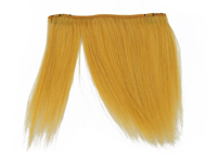 "Clip-In Fringe - 8"" Human Hair - Mustard Yellow"