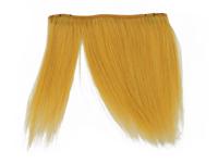 "Clip-In Fringe - 8"" Human Hair - Mustard Yellow"