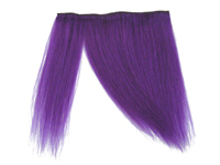 "Clip-In Fringe - 8"" Human Hair - Neon Purple"