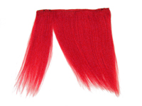 "Clip-In Fringe - 8"" Human Hair - Neon Red"