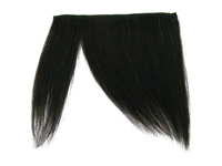 "Clip-In Fringe - 8"" Human Hair - #1B Off Black"