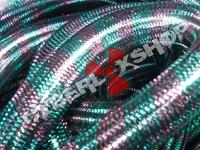 Tubular Crin - Large - Aqua Pink Stripe (5 yds)