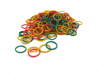 Pack of 250 Mini Rubber Bands (Multi Colour)