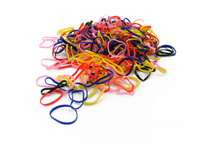 Pack of 250 Mini Silicone Bands (Multi Colour)