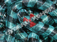 Tubular Crin - Large - Black Aqua Stripe (5 yds)
