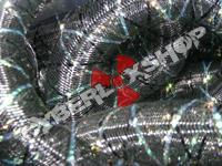 Tubular Crin - Large - Black Non-Metallic with Thread (5 yds)
