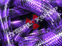 Tubular Crin - Large - Black Purple Stripe (5 yds)