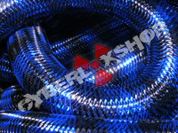 Tubular Crin - Large - Black Royal Blue Stripe (5 yds)