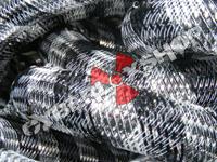 Tubular Crin - Large - Black Silver Stripe (5 yds)