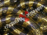 Tubular Crin - Large - Black Yellow Stripe (5 yds)