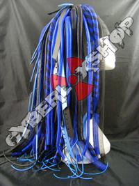Blue Predator Cyberlox Wig