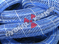 Tubular Crin - Large - Blue Metallic with Silver Thread (5 yds)