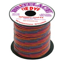 Britelace - 100 Ft Spool - Clear Red Tye Dye