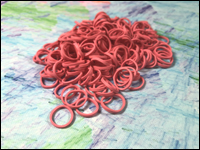 Beauty Town - Pack of 250 Mini Rubber Bands (Pink)