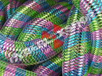 Tubular Crin - Large - Candy Rainbow Metallic Stripe (5 yds)