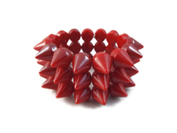 Cyber Spike Bracelet - Dark Red