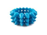 Cyber Spike Bracelet - Neon Blue