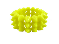 Cyber Spike Bracelet - Neon Yellow