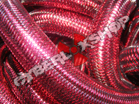 Tubular Crin - Large - Deep Rose Metallic (5 yds)