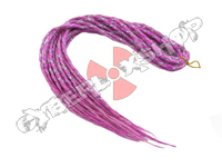 Elysee Star Dreads - Snow White & Purple Red with Purple Spiral