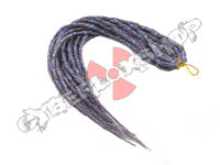 Elysee Star Dreads - Snow White & Purple with Purple Spiral