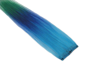 "Clip-In Extensions - Aqua / Royal Blue / Green 12"" (pack of 2)"