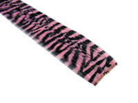 "Clip-In Extensions - Baby Pink / Black Tiger Zebra Print 12"" (pack of 2)"