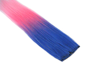 "Clip-In Extensions - Royal Blue / Neon Pink / Baby Pink 12"" (pack of 2)"