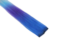"Clip-In Extensions - Royal Blue / Violet / Aqua 12"" (pack of 2)"