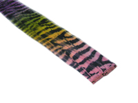 "Clip-In Extensions - Pink Yellow Green Purple Transitional / Black Tiger Zebra Print 12"" (pack of 2)"