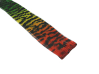 "Clip-In Extensions - Red Yellow Green Transitional / Black Tiger Zebra Print 12"" (pack of 2)"