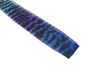 "Clip-In Extensions - Royal Blue Violet Aqua Transitional / Black Tiger Zebra Print 12"" (pack of 2)"