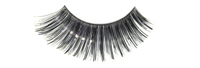Stargazer False Eyelashes #13 (Black with Black Foil)