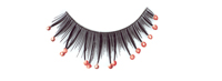 Stargazer False Eyelashes #40 (Black with Red Beads)