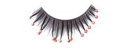 Stargazer False Eyelashes #40 (Black with Red Beads)