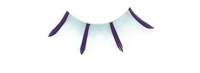 Stargazer False Eyelashes #43 (Purple with Light Blue)