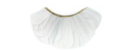 Stargazer False Eyelashes #48 (White Feathers)