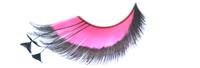 Stargazer False Eyelashes #53 (Pink & Black with Black Feathers)
