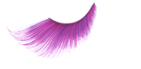 Stargazer False Eyelashes #57 (Extra Long Pink with Purple Accents)