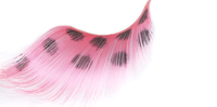 Stargazer False Eyelashes #65 (Extra Long Pink with Black Spots)