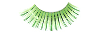 Stargazer False Eyelashes #07 (Bright Green with Green Foil)