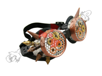 Cyber Goggles - Steampunk Aluminium with Cyber Spikes / Perforated Discs & Cogs
