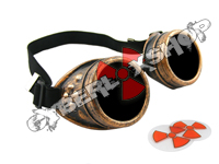 Cyber Goggles - Steampunk Antique Copper - Includes FREE Lense Design Inserts!