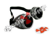 Cyber Goggles - Steampunk Antique Silver - Includes FREE Lense Design Inserts!