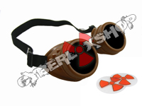 Cyber Goggles - Chocolate Brown - Includes FREE Lense Design Inserts!